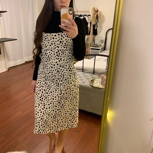 Cowl Neck And Back Slip Midi Dress